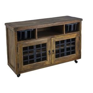 Coast to Coast Imports Jadu Accents Two Door Cabinet w / Two Baskets