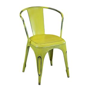 Coast to Coast Imports Jadu Accents Yellow Metal Chair - 2 pack