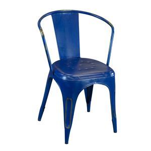 Coast to Coast Imports Jadu Accents  Blue Metal Chair - 2 pack