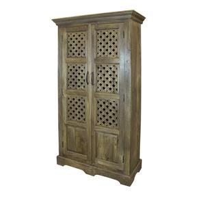 Coast to Coast Imports Jadu Accents Two Door Tall Cabinet