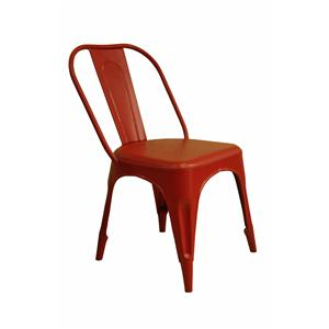 Coast to Coast Imports Jadu Accents Red Metal Chair - 2 pack