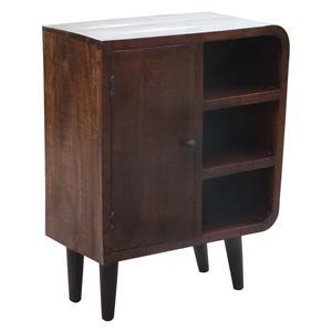Coast to Coast Imports Jadu Accents One Door Three Shelf Cabinet