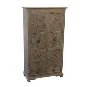 Coast to Coast Imports Jadu Accents Two Drawer Two Door Cabinet