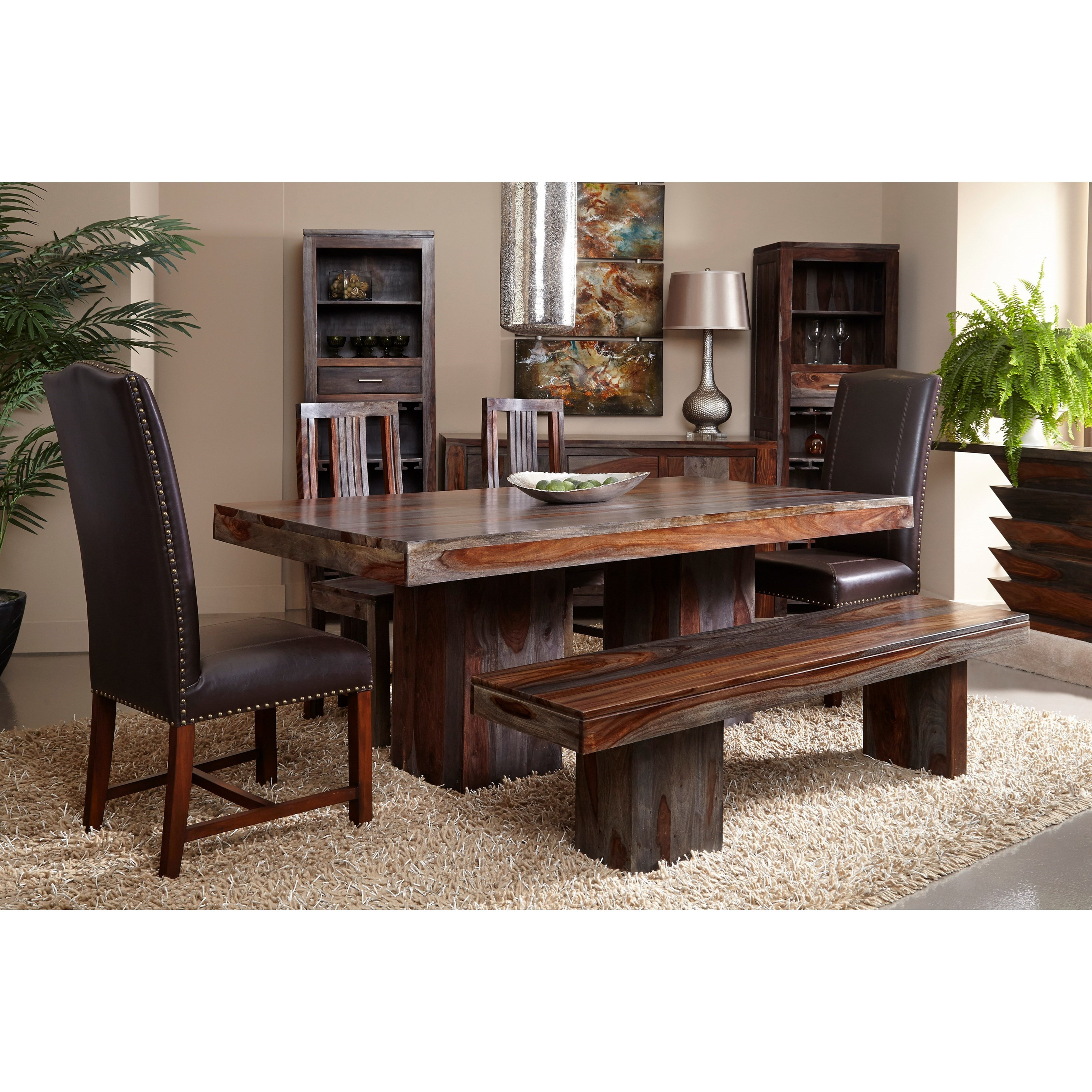 Wooden Dining Bench By Coast To Coast Imports Wolf Furniture
