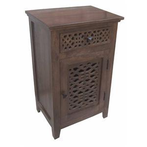 Coast to Coast Imports Jadu Accents One Drawer One Door Cabinet
