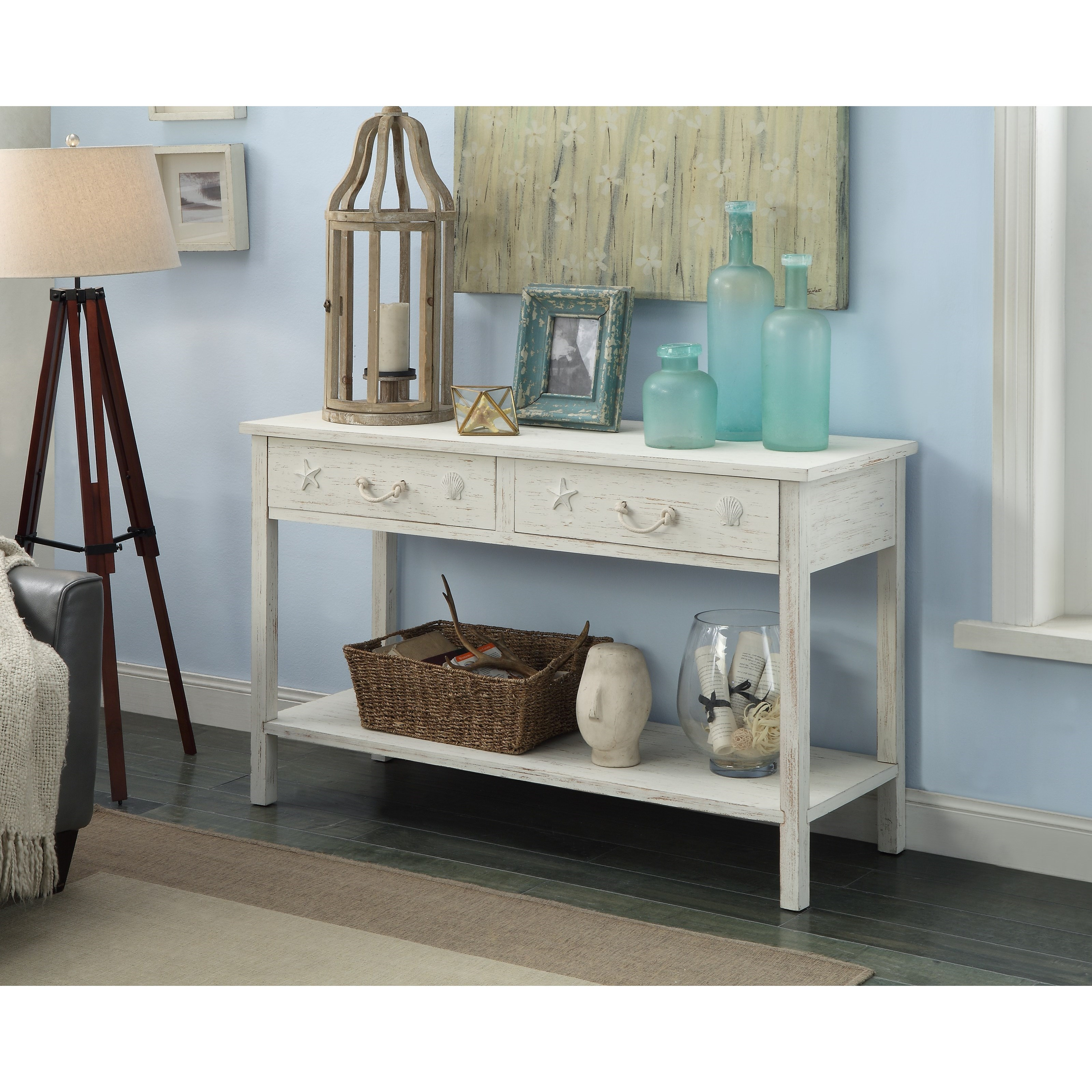 Attractive Sanibel Two Drawer Console Table