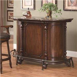 Traditional Bar Unit with Marble Top