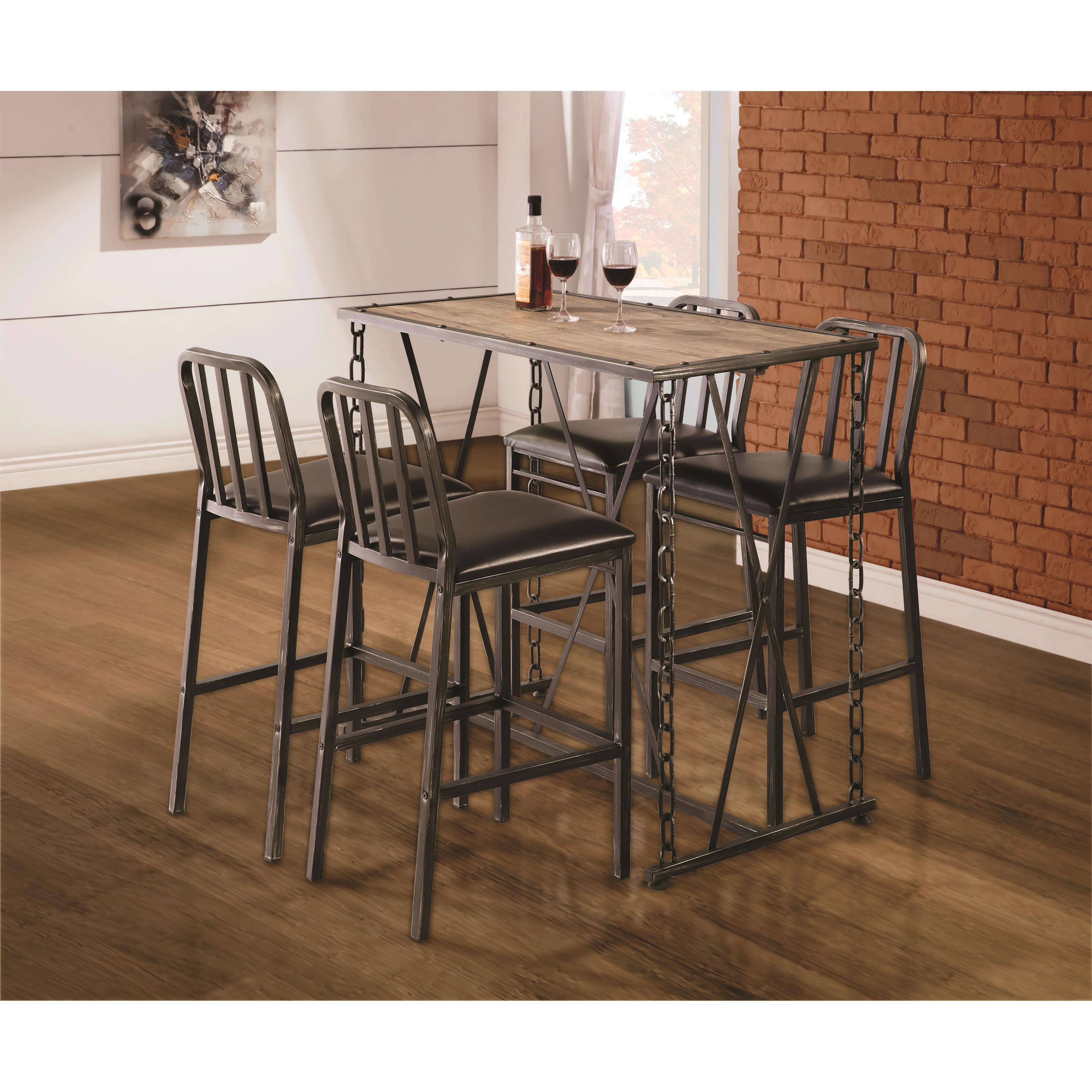 Industrial Pub Table Sets Industrial Table And Chairs Best High Dining Table And Chairs