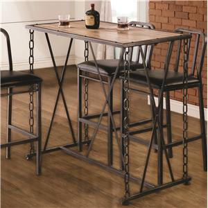Rustic Industrial Chain Link Bar Table