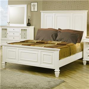 Coaster Sandy Beach Queen Headboard & Footboard Bed