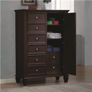 Door Dresser with Concealed Storage
