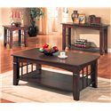 Coaster Abernathy End Table with Shelf - Shown with Coffee Table and Sofa Table