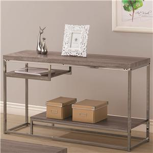 2 Shelf Sofa Table with Chrome Frame