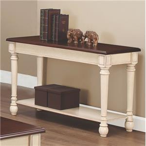 Two-Toned Transitional Sofa Table