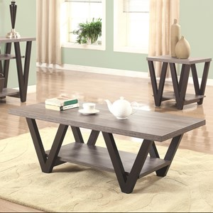 Two-Tone Angled Leg Coffee Table