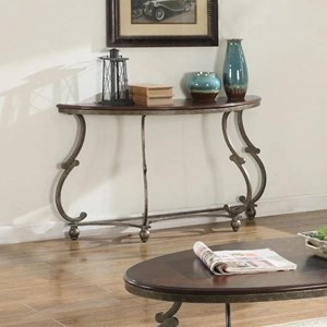 Traditional Semicircle Sofa Table