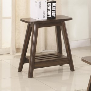 Brown Mid-Century Modern Accent Table
