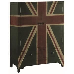 Accent Cabinet with British Flag Design