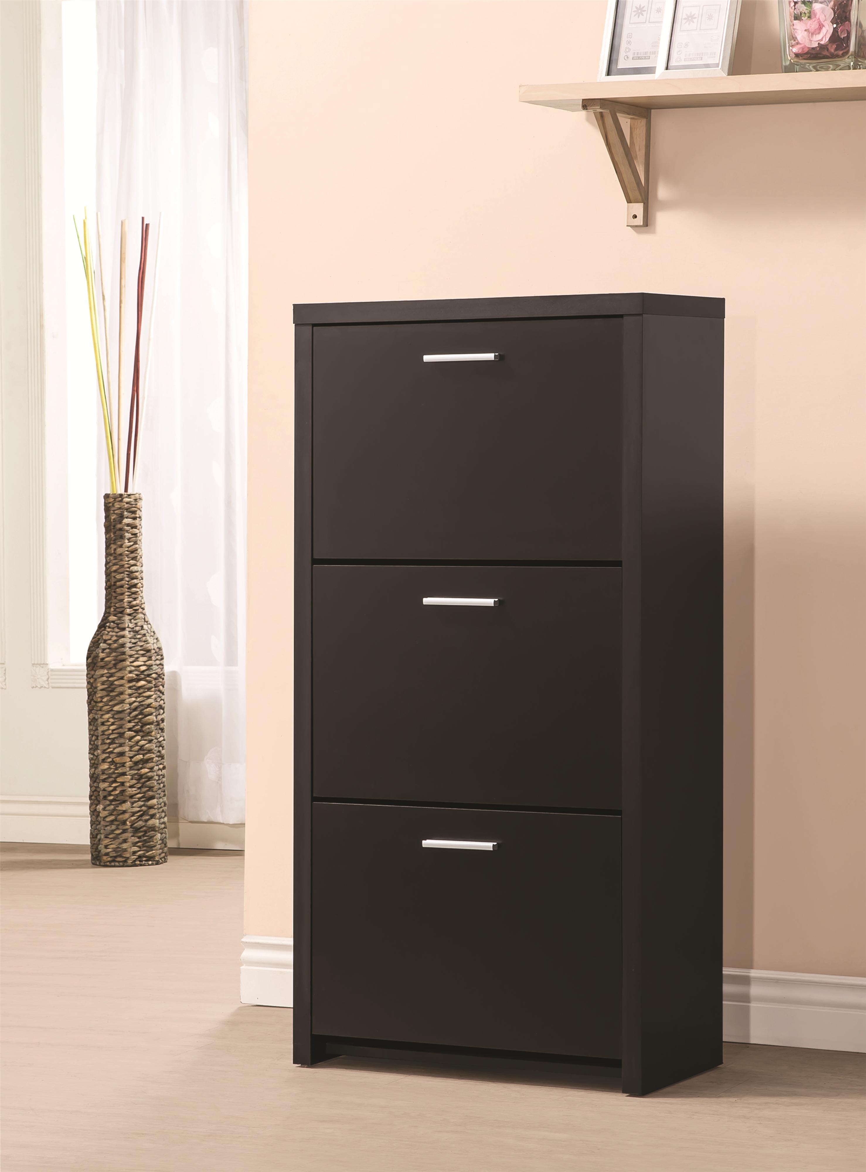 Tall Cabinet With Drawers Tall 3 Drawer Shoe Cabinet By Coaster Wolf And Gardiner Wolf