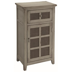 Accent Cabinet with Metal Paneled Doors