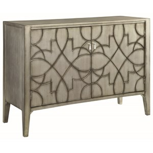 Accent Cabinet with Carved Doors