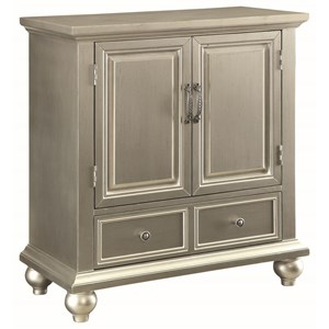 Glamorous Accent Cabinet with Silver Finish