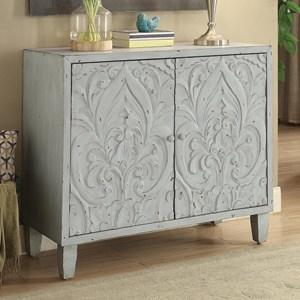 Accent Cabinet with Floral Door Design