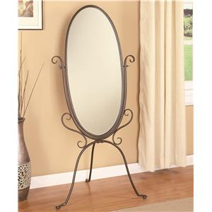 Coaster Accent Mirrors Metal Cheval Mirror
