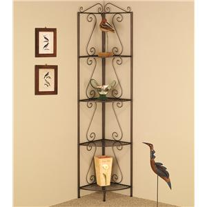 Copper Corner Shelf with Decorative Scrolls