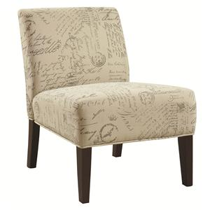 Armless Accent Chair with Contemporary Furniture Style