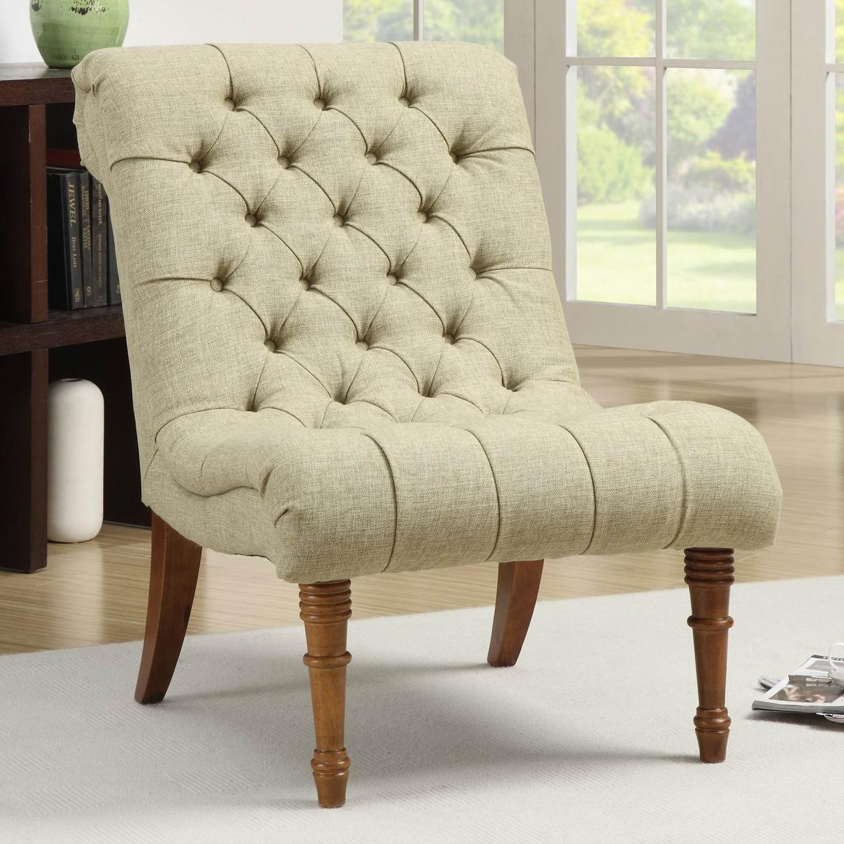 Tufted Accent Chair without Arms by Coaster | Wolf and Gardiner Wolf ...