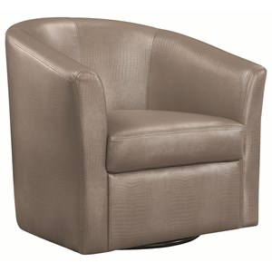 Contemporary Styled Accent Swivel Chair