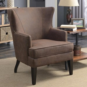 Accent Chair with Winged Back