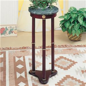 Green Marble Top Round Plant Stand