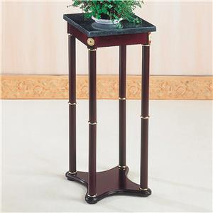 Green Marble Top Plant Stand
