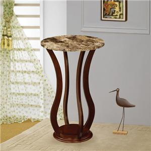 Round Marble Top Plant Stand