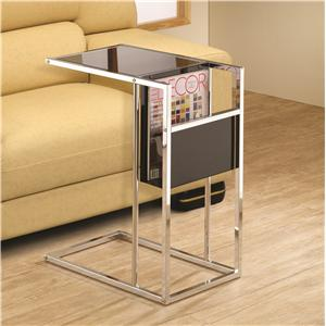 Coaster Accent Tables Black & Chrome Snack Table