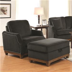 Coaster Acklin Chair & Ottoman