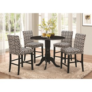 round counter height pedestal table - Counter Height Table And Chairs