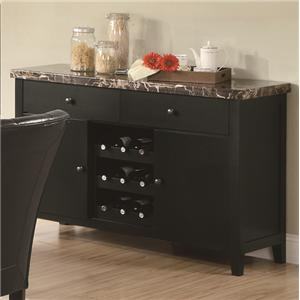 Coaster Anisa Dining Server with Wine Rack
