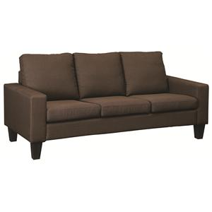 Sofa with Track Arms and Tapered Wood Legs