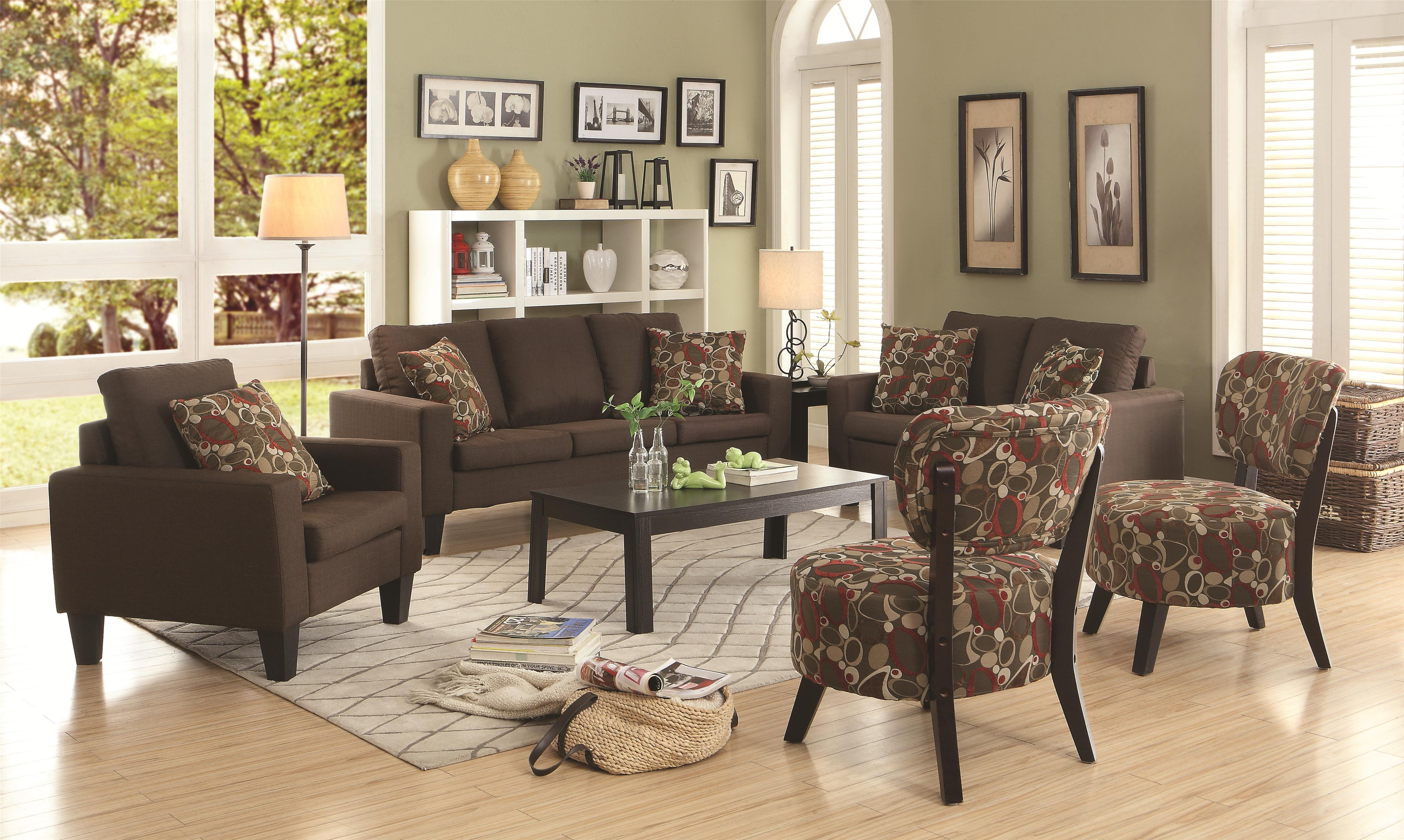 Furniture Legs Dallas Tx love seat with track arms and tapered wood legscoaster | wolf