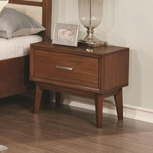 1 Drawer Nightstand with Wire Cord Access