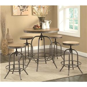 Coaster Bar Units and Bar Tables Transitional Bar Table and Chair Set