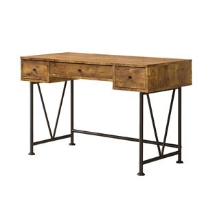 Industrial Style Writing Desk with 3 Drawers