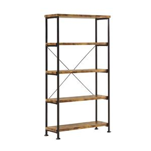 Wood and Metal Open Bookcase