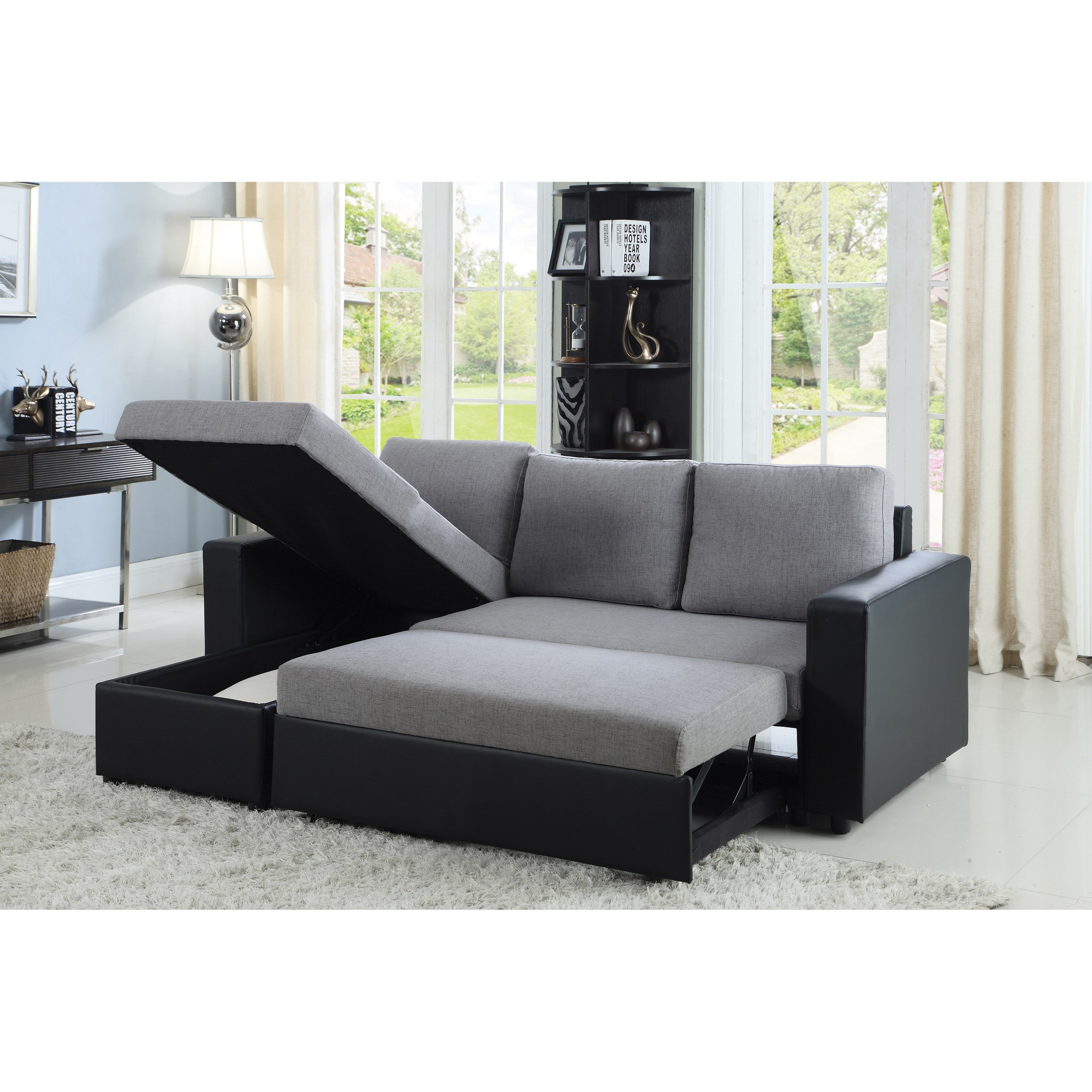 Sectional (grey/black)