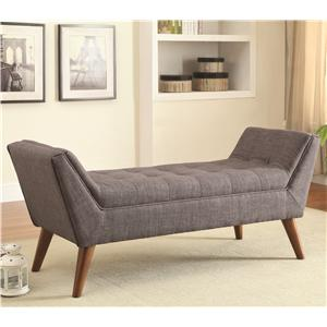 Mid-Century Modern Upholstered Accent Bench