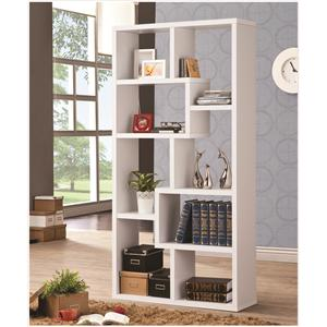 Multiple Cubed Rectangular Bookcase, White