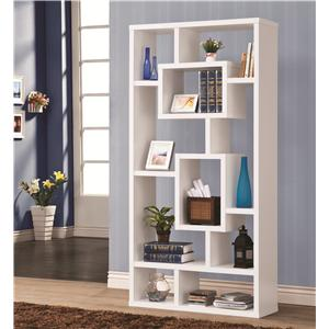 Geometric Cubed Rectangular Bookshelf